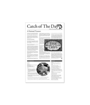 "Greaseproof Paper, 10.6"" x 16.5"" ( 27 x 42 cm), 'Catch of the Day' design, use w"