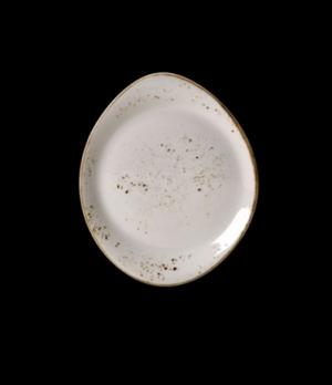 "Plate, 10"" dia., round, free style body, narrow rim, freezer/microwave/dishwashe"