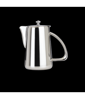 Coffee Pot, 36 oz., with lid, 18/10 stainless steel, WNK, Kamina (USA stock item