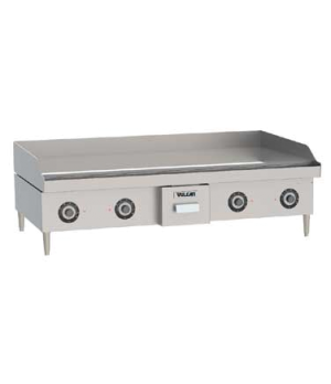 "Heavy Duty Electric Griddle, 21.6kW, 48""W x 24""D x 5/8"" thick composite griddle"