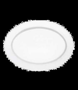 "Plate, 12-5/8"" x 9-1/2"", oval, premium porcelain, Millenia Bianca (DE Stock)"
