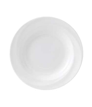 "Solar Soup Plate, 9"" dia., round, dishwasher safe, bone china, white"