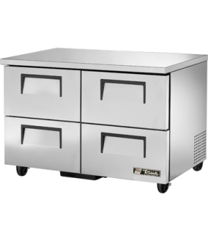 Undercounter Freezer, -10° F, stainless steel top & sides, white aluminum interi