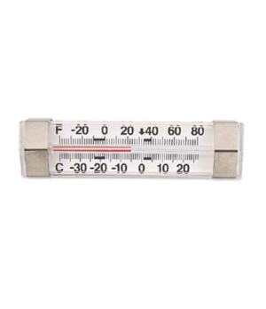 "Refrigerator/Freezer Thermometer, 1-7/8""W x 12""H, temperature range -40° to 80Â"