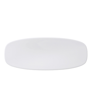 "Platter, 11-3/4"" x 4-3/4"", oval, coupe, premium porcelain, Affinity"