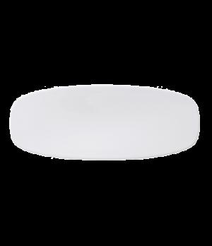 "Platter, 11-3/4"" x 4-3/4"", oval, coupe, premium porcelain, Affinity"