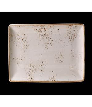 "Platter, 13-1/2"" x 10-5/8"", rectangle, narrow rim, freezer/microwave/dishwasher"