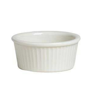 Ramekin, 6 oz., fluted, Anfora, American Basics, Polar White (USA stock item) (m