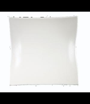 "Plate, 11"", square, glass, Cera"