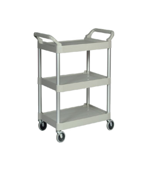 "Utility Cart, 3 shelves, 33-5/8""W x 18-5/8""D x 37-3/48""H, 200 lb. weight capacit"
