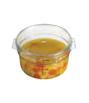 Camwear® Cover, for 12, 18 & 22 qt. round storage container, clear, polycarbonat