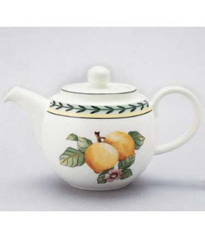 Teapot #5, 13 oz., with lid, premium porcelain, French Garden-Dampierre (Special