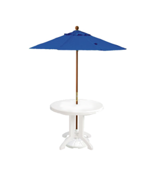 "Market Umbrella, 7 ft, 1-1/2"" wooden pole, Outdura fabric, Pacific blue"