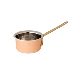"Saucepan, 10 oz, (290mL), 4"" diameter, without lid, stainless steel interior, sm"