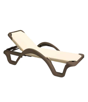 Catalina Chaise, stackable, with arms, adjustable sling, frame to be specified,