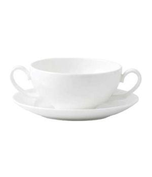 Solar Soup Cup, dishwasher safe, bone china, white