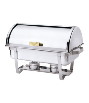 "Economy Chafer, 9 qt., 24-1/4"" x 14-1/2"" x 15-1/2"", rectangular, 90° roll top l"