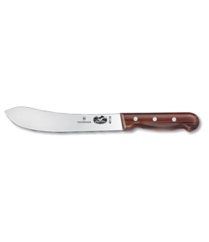 "Butcher Knife, 8"" straight, rosewood handle"