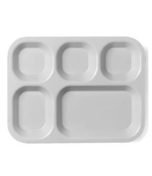 "Camwear® Tray, 5-compartment, 10"" x 14-1/2"" x 15/16"", polycarbonate, dishwasher"