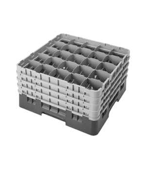 Camrack® Glass Rack, with 4 extenders, full size, low profile, 25 compartments,