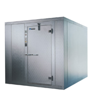 "Cooler/Freezer Combination Walk-In, 9'-8"" x 17'-4"" x 8'-6"" high, with .080 textu"