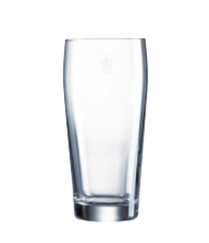 "Tumbler Glass, 20 oz., glass, Arcoroc, Willi Belcher, (H 6-1/4""; T 3""; B 2-3/8"";"