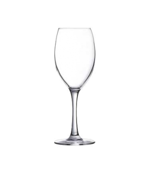 "Wine Glass, 8-1/4 oz., sheer rim, glass, Arcoroc, Malea (H 7-5/8"" T 2-1/8"" B 2-3"