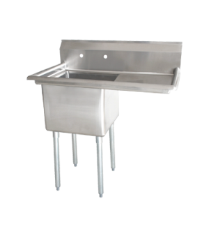 "(25264) Pot Sink, (1) 21"" front to back x 18"" wide x 14"" deep bowls, corner drains"