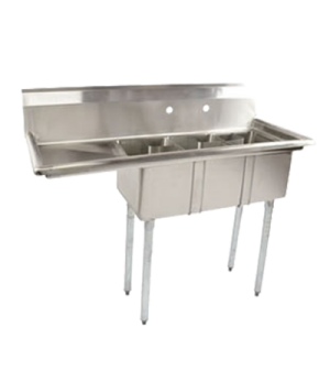 "(43755) Convenience Store Sink, three compartment, 48-5/8""W x 19-1/2""D x 43-3/4"""