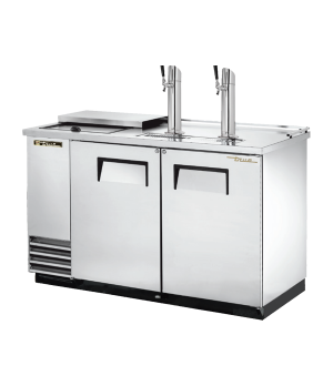 Club Top Draft Beer Cooler, (2) keg capacity, stainless steel counter top & lid