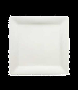 "Plate, 11"" x 11"", flat, premium porcelain, Pi Carre"