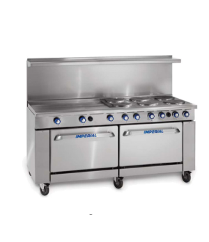 "Restaurant Range, electric, 72"", (12) round elements, (2) standard ovens, (1) ch"