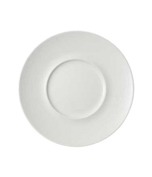 "Plate, 11-3/8"" x 5-3/4"" well, premium porcelain, Marchesi-Sedona"