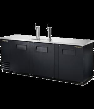 Draft Beer Cooler, (4) keg capacity, stainless steel counter top, black vinyl ex