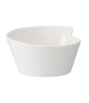 Bowl, 12-1/2 oz., round, free form, dishwasher & microwave safe, white, premium