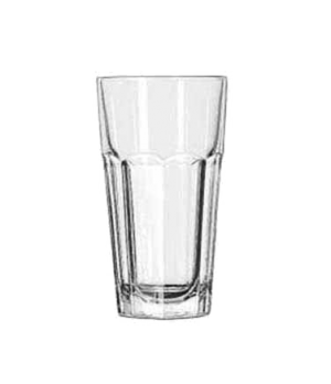 "Cooler Glass, 16 oz., tall, DuraTuff®, GIBRALTAR®, (H 6-3/8""; T 3-3/8""; B 2-1/2"""