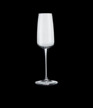 "Champagne Flute Glass, 7-3/4 oz., 1-3/4"" dia. x 9-1/4""H, crystal, non-lead, pull"