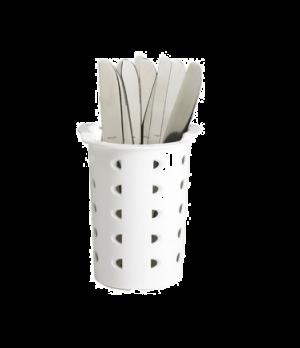 Flatware Cylinder, white, plastic