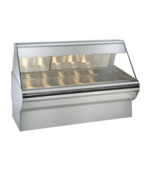 "Halo Heat® Heated Display Case System, 72"" L, full/self-service, self-service on"