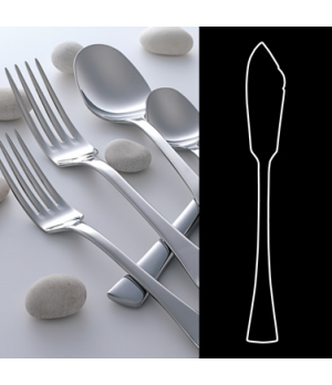 "Fish Knife, 7-3/4"", 18/10 stainless steel, WNK, Eclipse (USA stock item) (minimu"