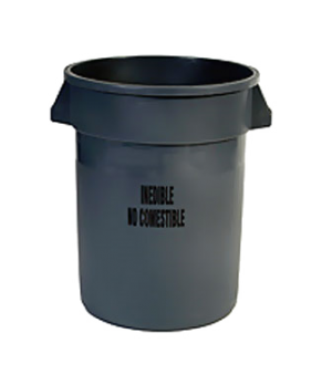 "BRUTE® Recycling Container, 32 gallon, with Recycle Arrows logo and PCR 22""D x 2"