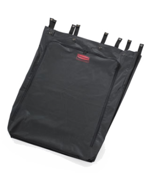 Premium Linen Hamper Bag, 30 gallon, polyester, black