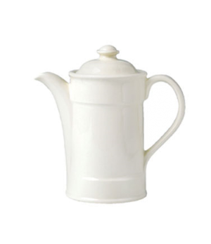 Coffee Pot, 15 oz., Lid 3, vitrified china, Performance, Ivory, Claret (priced p