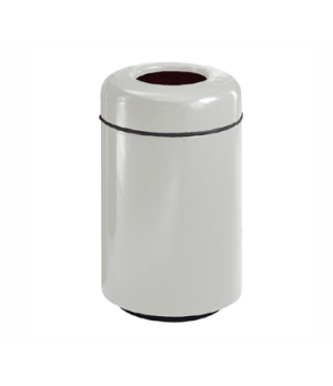 "Waste Receptacle, 20 gallon, 18"" dia. x 29"" H, open top, fiberglass, retainer ba"