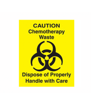 "Decal ""Chemotherapy Waste"", yellow"