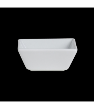 "Bowl, 3-1/4 oz., 3-1/8"" x 1-1/4"", square, Varick, Café Porcelain (USA stock item"