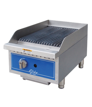 """Charbroiler, gas, radiant, countertop, 15"""" wide, heavy-duty reversible cast-iron"""