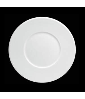 "Plate, 8-1/4"" dia. (4-3/8"" well), round, flat, wide rim, porcelain, Tria, Wish ("