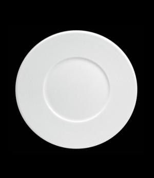 "Plate, 8-1/4"" dia. (4-3/8"" well), round, flat, wide rim, porcelain, Tria, Wish ("