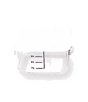 "Space Saving Container, square, 4 qt, 8-3/4""L x 8-5/16""W x 4-3/4""H, -40°F/-40°C"